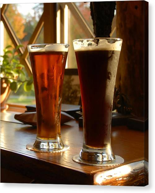 Craft Beer Canvas Print - Two Craft Beers by David Lee Thompson