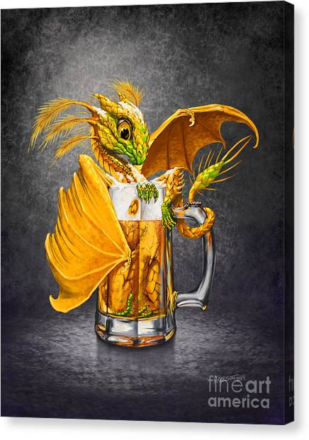 Dragons Canvas Print - Beer Dragon by Stanley Morrison