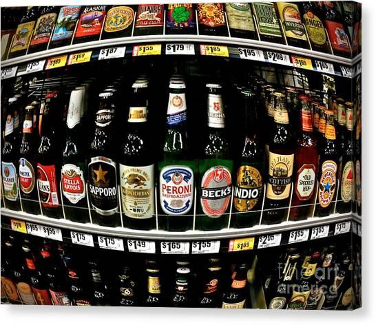 Beer Of Choice II - No.9188 Canvas Print