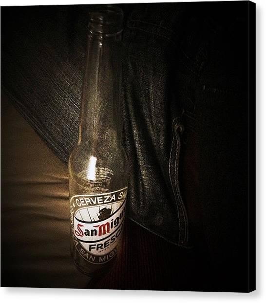 Lager Canvas Print - #beer #sanmiguel #brewski #jeans #denim by Ben Lowe