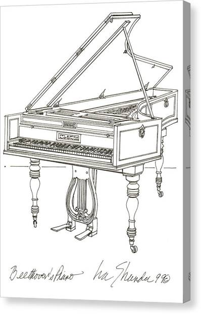 Beethoven's Broadwood Grand  Piano Canvas Print