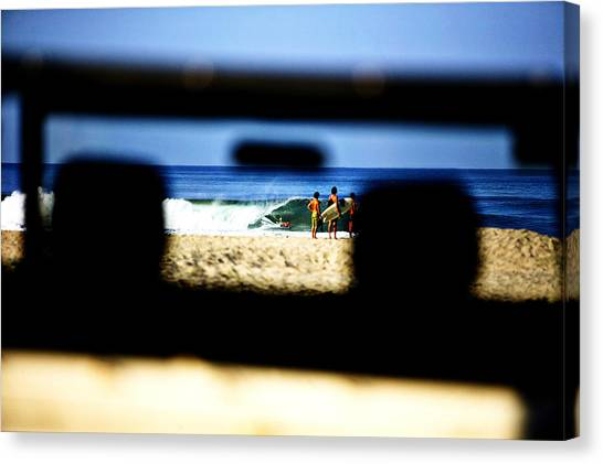 Bodyboard Canvas Print - Beetle Surf Watch by Emilio Lopez