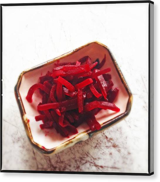 Salad Canvas Print - Beetroot Salad by Matthias Hauser