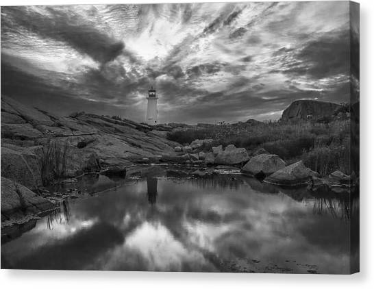Before Dawn Bw Canvas Print