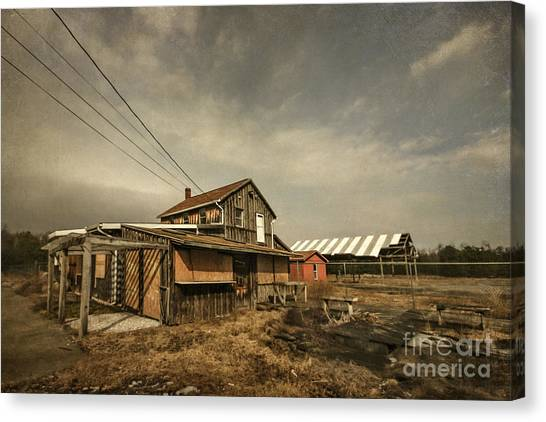 Derelict Canvas Print - Before It Falls Apart by Evelina Kremsdorf