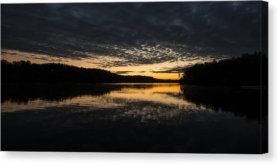 Before Sunrise At The Lake Canvas Print