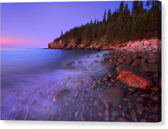 Jordan Pond Canvas Print - Before The First Light by Emmanuel Panagiotakis