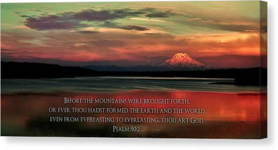 Bible Verses Canvas Print - Before The Mountains by Benjamin Yeager