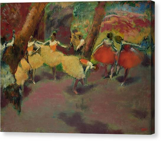 Edgar Degas Canvas Print - Before The Performance by Edgar Degas