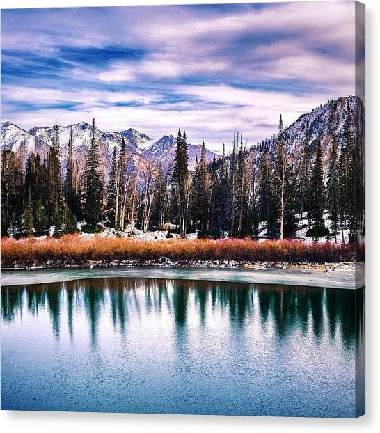 Idaho Canvas Print - Before The #storm. #tituslake #idaho by Cody Haskell