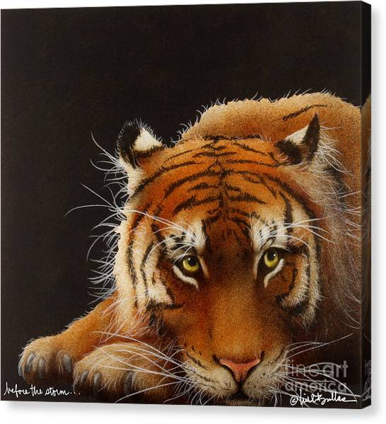 Bengal Tiger Canvas Print - Before The Storm... by Will Bullas
