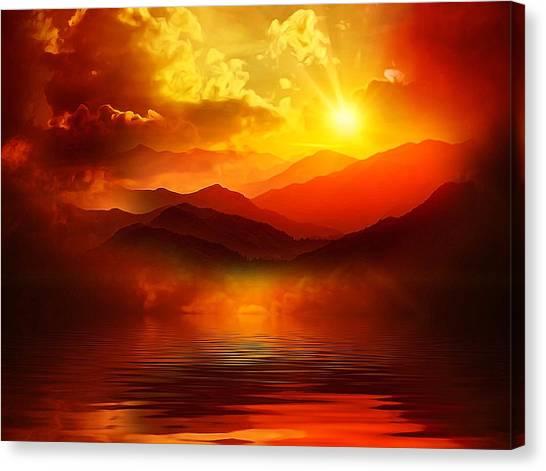 Before The Sun Goes To Sleep Canvas Print