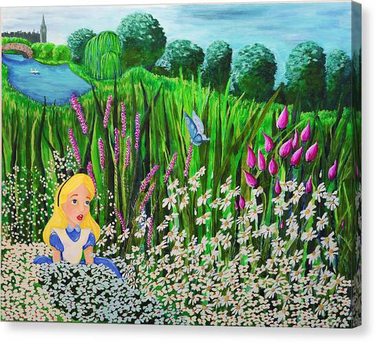 Before Wonderland Canvas Print by Dennise Heckman