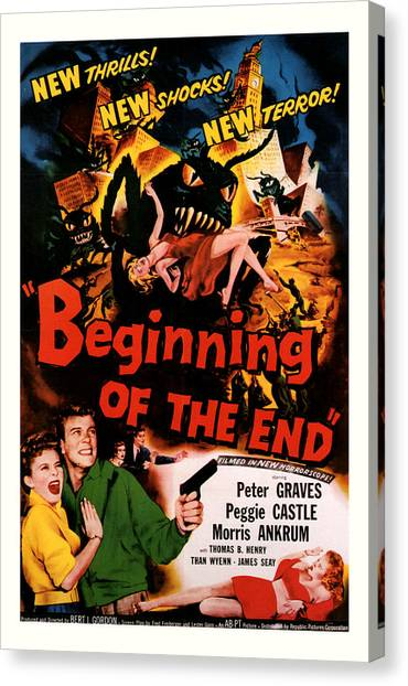 Beginning Of The End 1957 Canvas Print