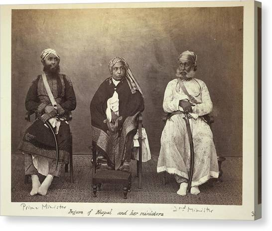 Islam Canvas Print - Begum Of Bhopal And Her Ministers by British Library