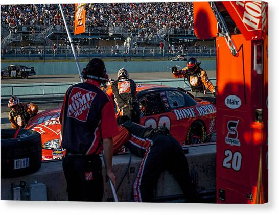 Tony Stewart Canvas Print - Behind Pits by Kevin Cable