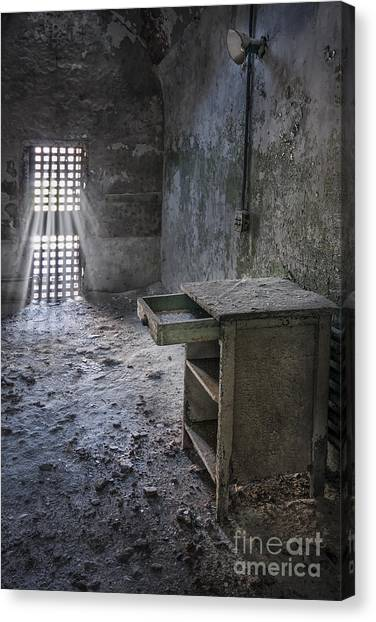 Derelict Canvas Print - Behind The Bars by Evelina Kremsdorf