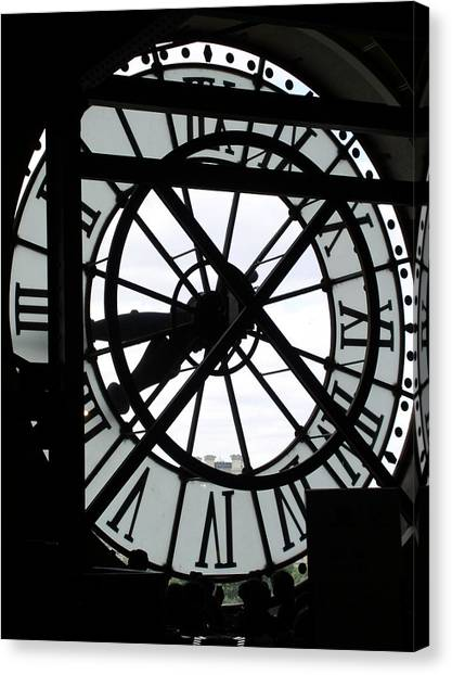 Behind The Clock II Canvas Print