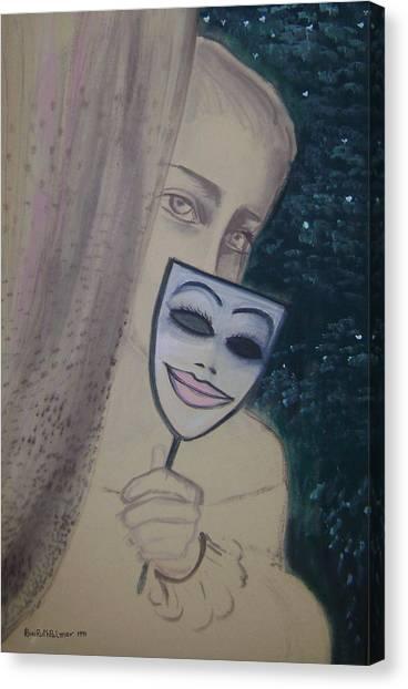 Behind The Curtein Canvas Print by Roni Ruth Palmer