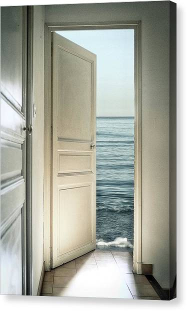 Open Canvas Print - Behind The Door by Christian Marcel