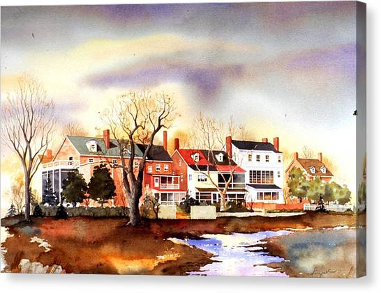Behind The Strand In New Castle Canvas Print