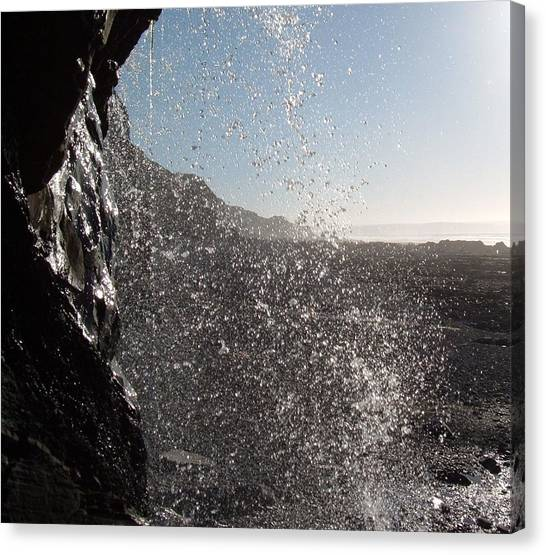 Behind The Waterfall Canvas Print