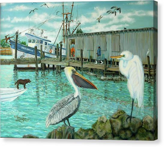 Behind Wando Shrimp Co. Canvas Print