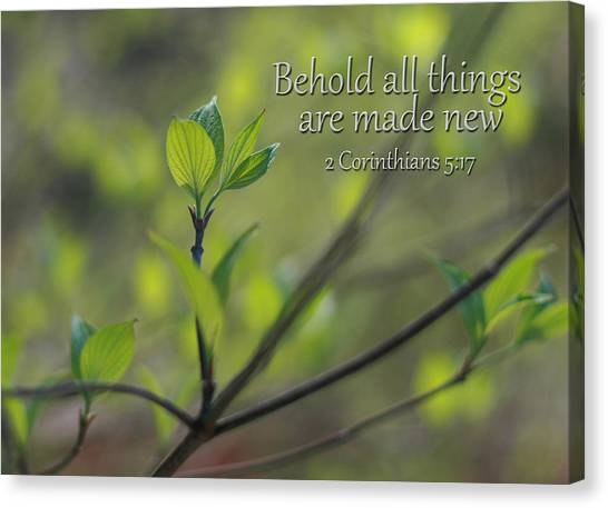 Behold All Things Are New Canvas Print