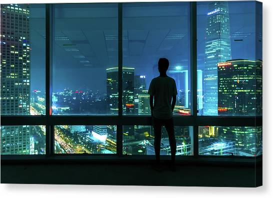 Beijing Cbd Canvas Print by Dukai Photographer