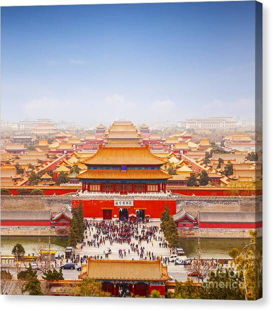 Beijing Forbidden City Skyline Canvas Print