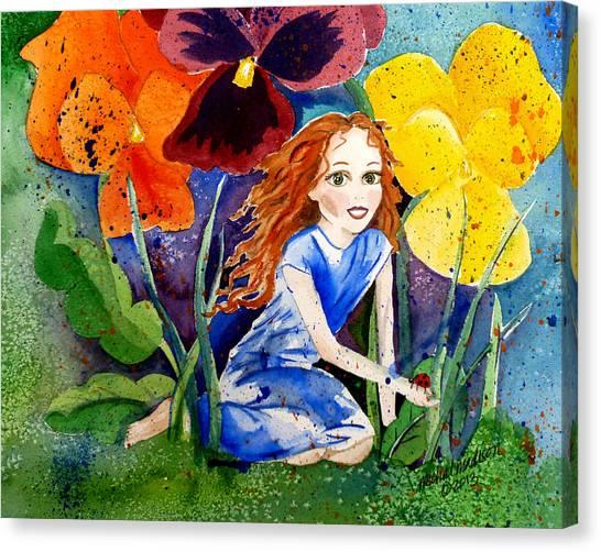 Tiny Flower Fairy Canvas Print