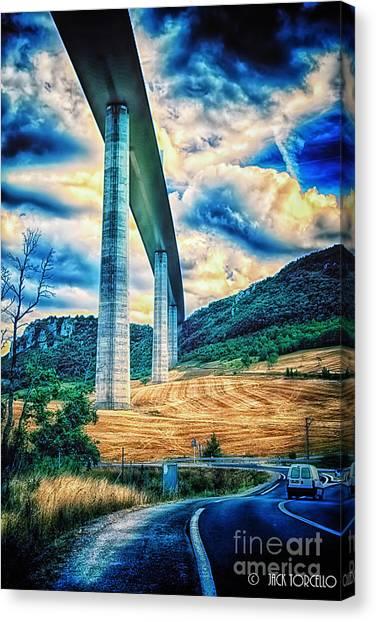 Beleau Millau Viaduct France Canvas Print