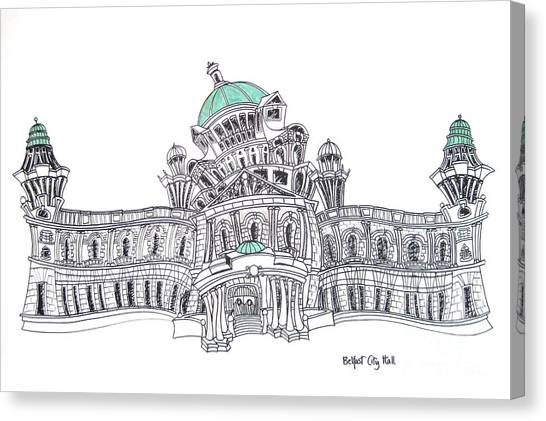 Belfast City Hall Belfast Canvas Print by Tanya Mai Johnston