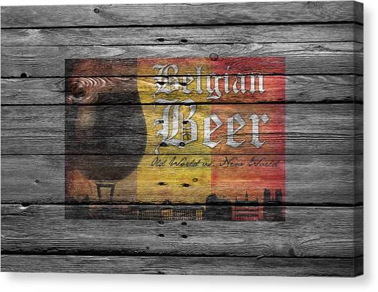 Beer Can Canvas Print - Belgian Beer by Joe Hamilton