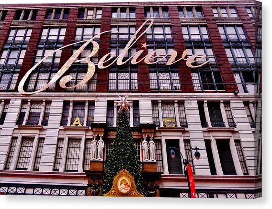 Macys Parade Canvas Print - Believe by Benjamin Yeager