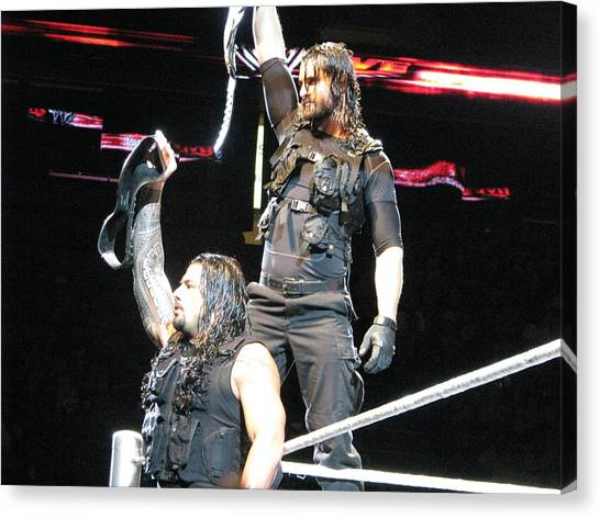 Wwe Canvas Print - Believe In The Shield by Anibal Diaz