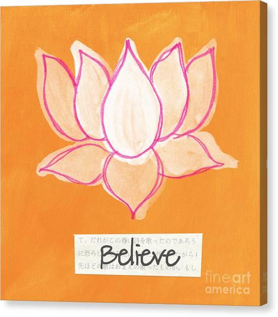 Buddhist Canvas Print - Believe by Linda Woods