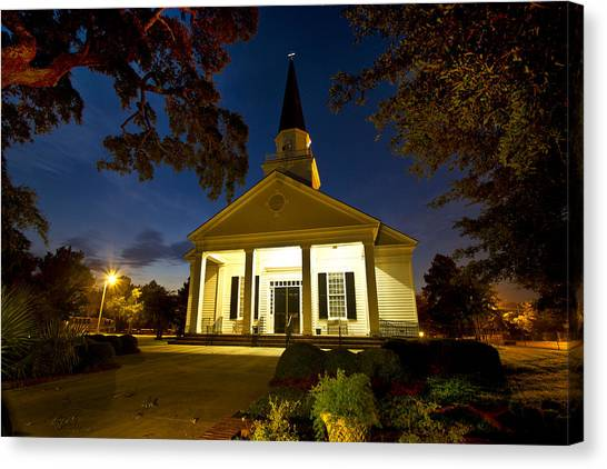 Belin Memorial Umc After Dark Canvas Print