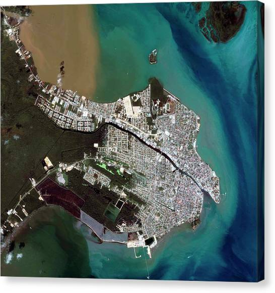 Belize Canvas Print - Belize City by Geoeye/science Photo Library