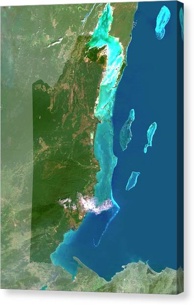 Belize Canvas Print - Belize by Planetobserver/science Photo Library
