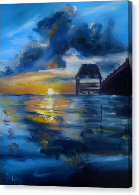 Belizean Sunrise Canvas Print