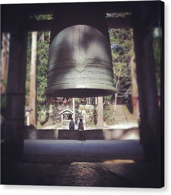 Plus Canvas Print - bell Couple - At Dewa Sanzan On by Kenichi Iwai