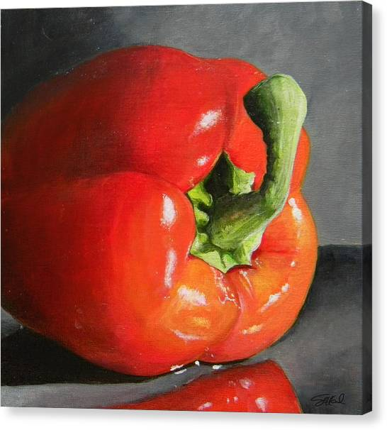 Bell Pepper Mini Canvas Print