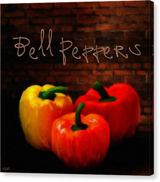 Ingredient Canvas Print - Bell Peppers II by Lourry Legarde