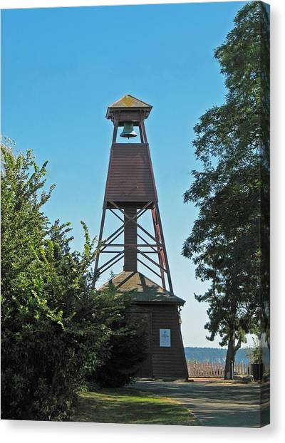 Bell Tower In Port Townsend  Canvas Print