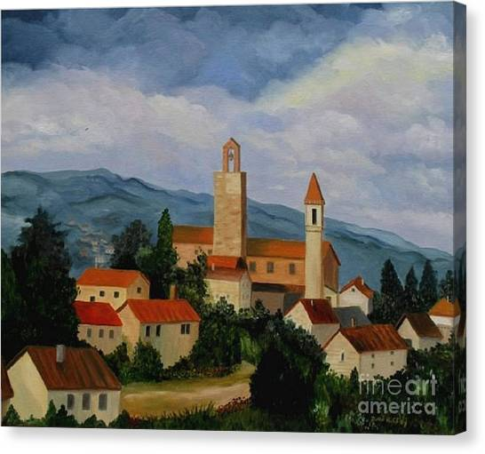 Bell Tower Of Vinci Canvas Print