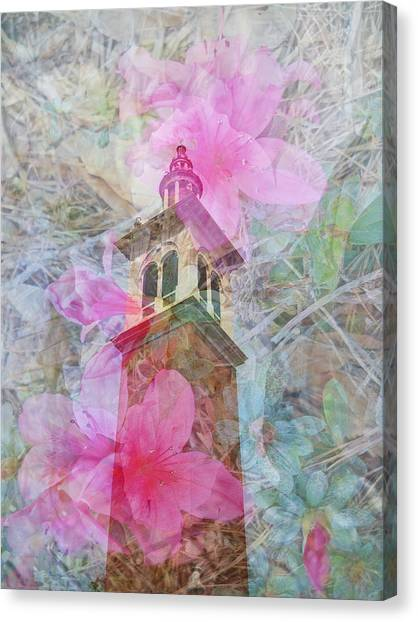 Bell Tower Wrapped In Spring Canvas Print