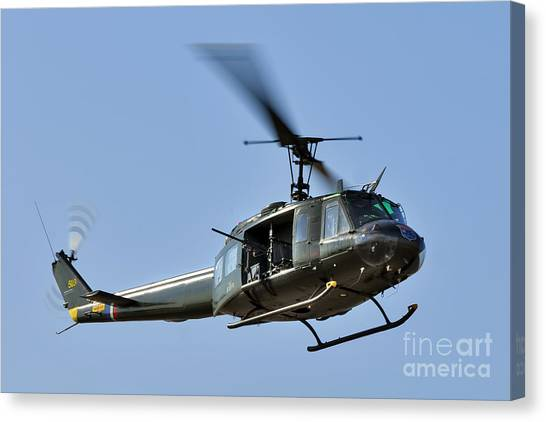 Medivac Canvas Print - Bell Uh-1 Iroquois Helicopter - Huey by Steve H Clark Photography