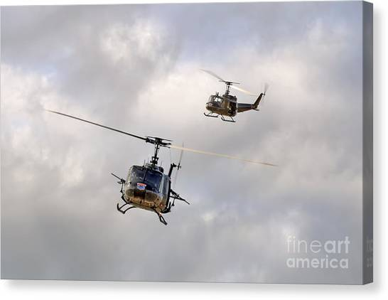 Medivac Canvas Print - Bell Uh-1 Iroquois Helicopters - Hueys by Steve H Clark Photography