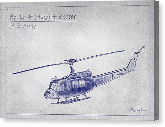 Bell Uh-1h Huey Helicopter  Canvas Print